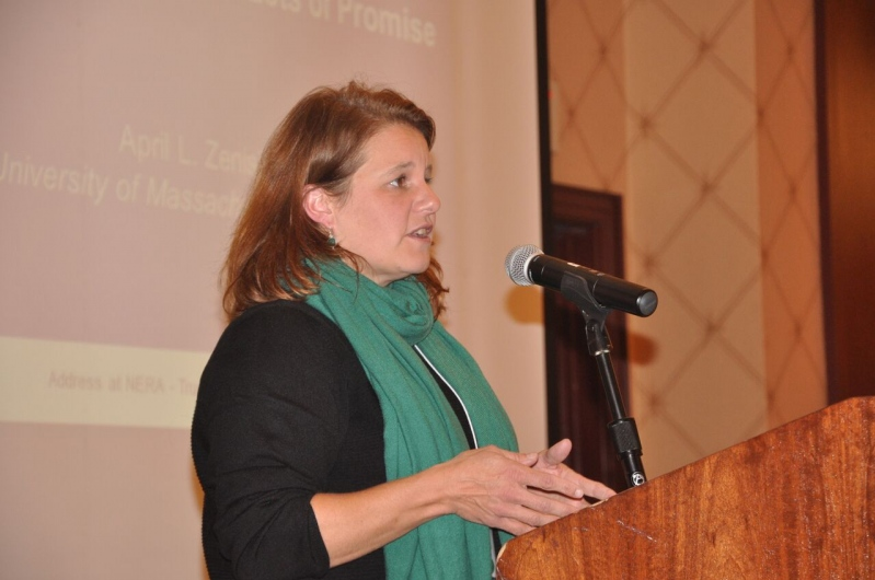 April Zanisky delivers Presidential Address
